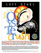 OYSTER CRUSH fundraiser by CAPE HENRY ROTARY to benefit Alzheimer's Association, Hospice Alliance, JCOC and more!