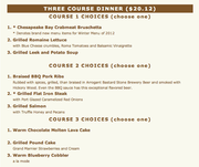 RESTAURANT WEEK DINNER AT 11TH STREET TAPHOUSE featuring BRENT SHEPARD