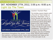 LIGHT UP THE TOWN AT TOWN CENTER