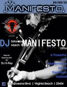 **Guest List Closes at 2pm TODAY** For World Renowned Dj Manifesto at Smoked Out **FREE Admission ONLY for VBnightlife members on Guest List**