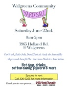 Community Yard Sale!  ALL PROCEEDS Benefit the American Diabetes Association