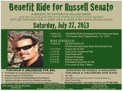 BENEFIT RIDE FOR RUSSELL SENATO