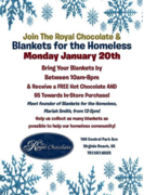 SUPPORT A LOCAL CAUSE: BLANKETS FOR THE HOMELESS