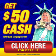 $50 CASH FROM LIBERTY TAX