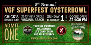 """**WIN Tickets to Virginia Gentlemen Superbowl Party """"Superfest Oysterbowl"""""""
