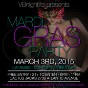 3rd ANNUAL VBnightlife MARDI GRAS PARTY • LOUISIANA STYLE MARDI GRAS •