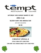 This Weekend at Tempt Restaurant and Lounge
