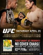 UFC 186 JOHNSON VS HORIGUCHI at FROGGIE'S CANTINA BY THE BAY • FULL SOUND •NO COVER