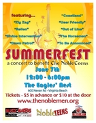 SUMMERFEST CONCERT TO BENEFIT THE NOBLE TEENS