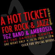 THE TGZ BAND and AMBROSIA PERFORM THE SANDLER CENTER FRIDAY!