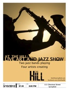 AT THE HILL: LIVE ART AND JAZZ SHOW