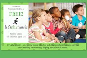 Free sample music class for 4-6 year olds