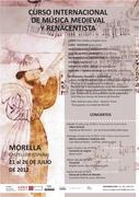 CURSO INTERNACIONAL DE MÚSICA MEDIEVAL Y RENACENTISTA