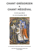 Stages de chant grégorien et chant médiéval
