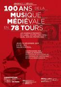 Centenaire de la musique médiévale en 78 tours