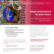 STAGE INTERNATIONAL DE PLAIN-CHANT