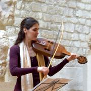 troubadours et vièle à archet