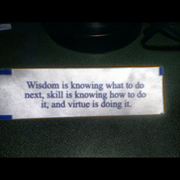 #fortunecookie I got at a #chinese restaurant in #stevenspoint when I came to #uwsp for #orientation