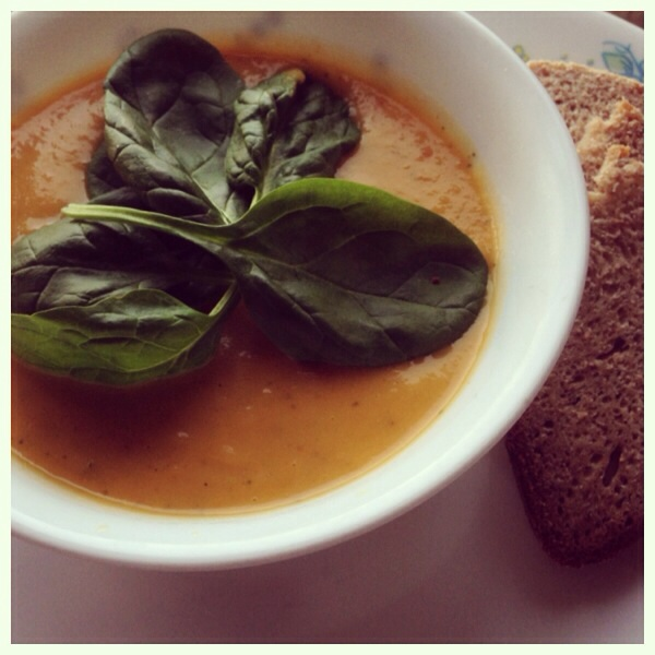 Roasted Pumpkin and pepper soup