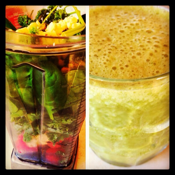Spinach kale ginger smoothie