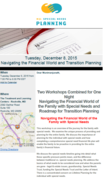 Navigating the Financial World and Transition Planning