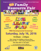 2016 Montgomery County Infants & Toddlers Resource Fair