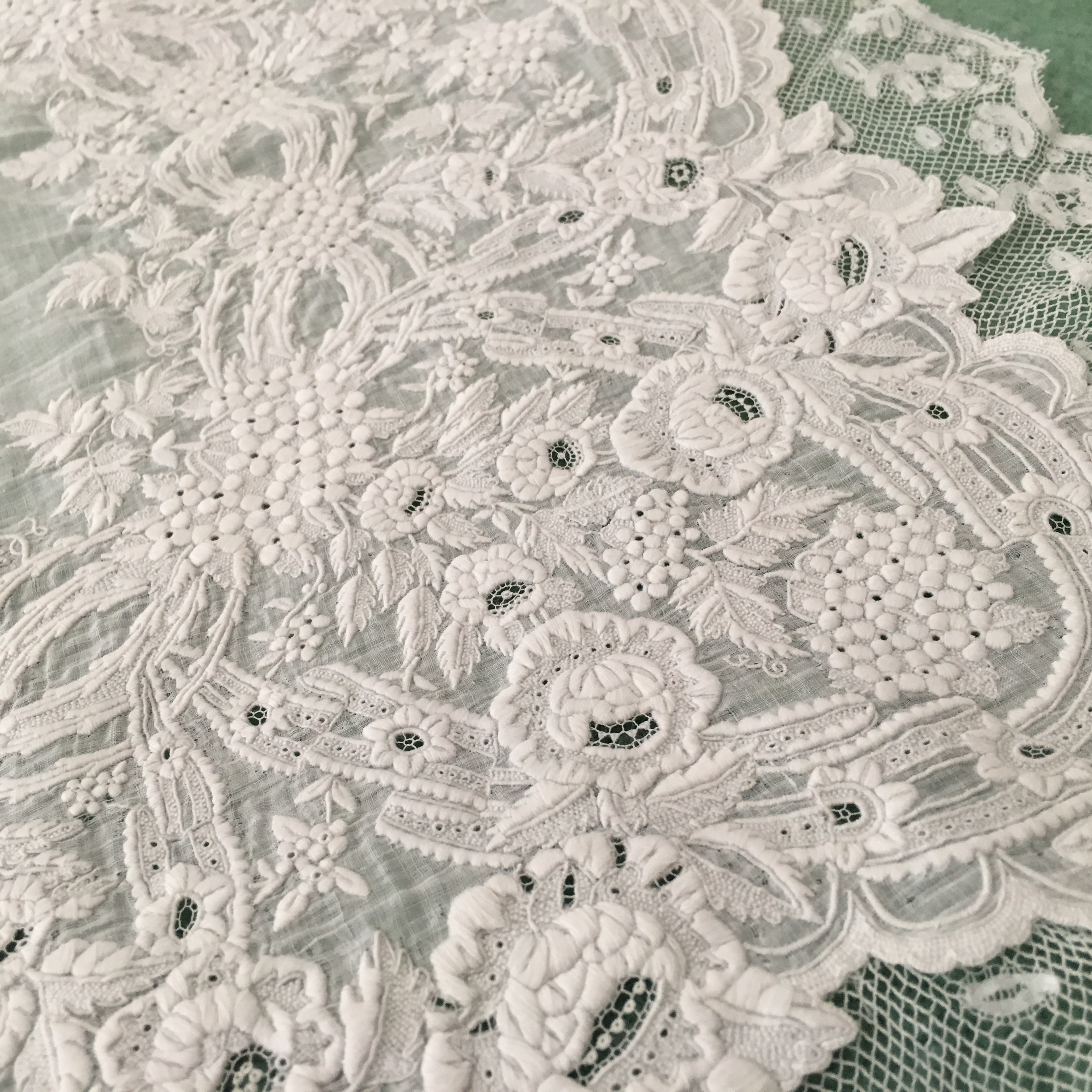 Close up of the embroidery