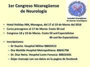 Primer Congreso Nicaragüense de Neurologia
