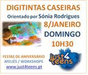 DIGITINTA PARA BEBÉS E CRIANÇAS COM TINTAS CASEIRAS E COMESTÍVEIS