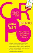 FESTIVAIS: Corpo Evento|Ciclo de Espetáculos em Teatro e Dança