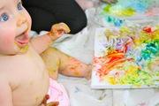 CRIANÇAS: Pinturas para bebés e crianças com tintas de legumes caseiras e comestíveis (+6 meses)