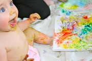 CRIANÇAS: Pinturas para bebés e crianças com tintas de fruta caseiras e comestíveis (+8 meses)