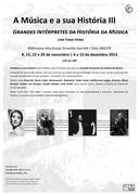 WORKSHOP: A Música e a sua História - Grandes Intérpretes da História da Música