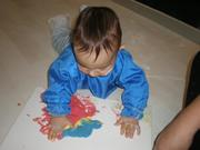 CRIANÇAS: Digitinta para Bebés e Crianças com tintas caseiras e comestíveis (+7 meses)