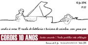 "MÚSICA: CORDIS 10 ANOS - Jantar Concerto ""CORDIS à Mesa"""