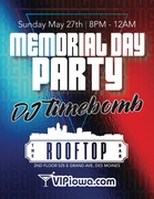 Memorial Day Party with Dj Timebomb