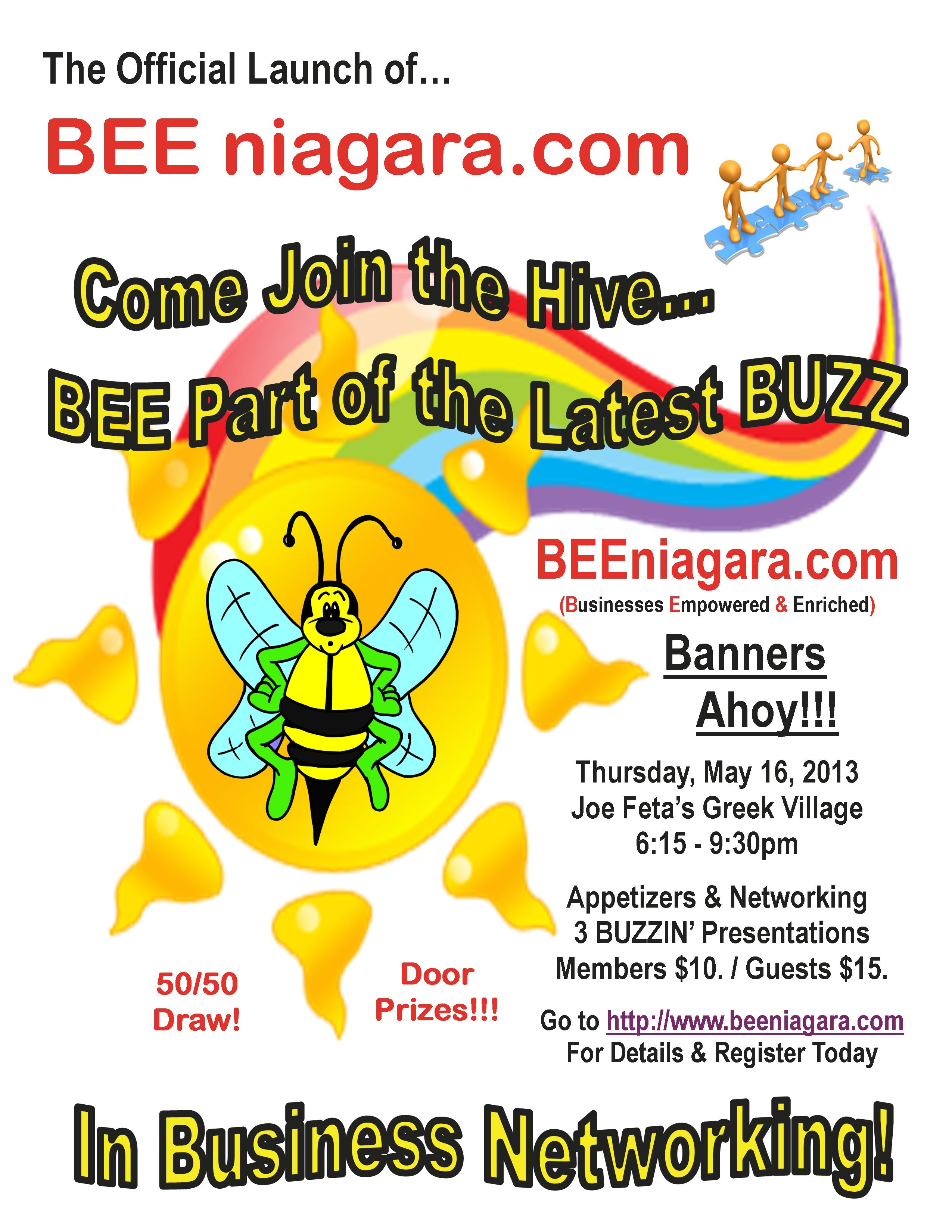 BEEniagara Eve Event Flyer