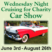 Wednesday Night Cruising for Charity Car Show