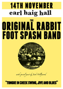 The Original Rabbit Foot Spasm Band - Swing/ Jive/ Blues - FREE ENTRY!