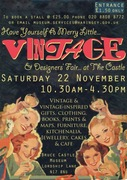 Have Yourself A Merry Little Vintage & Designers' Fair at the Castle