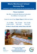 Open Day! Maria Montessori Nursery School on Ashley Road, N19