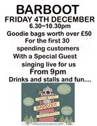 Barboot - all over Crouch End - Fri 4th Dec 7:30