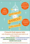 Barboot - all over Crouch End - Fri 2nd Dec 7:00