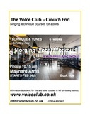 Voice Club Singing Workout  at the Maynard -(Singing Technique course for adults) returners/improvers