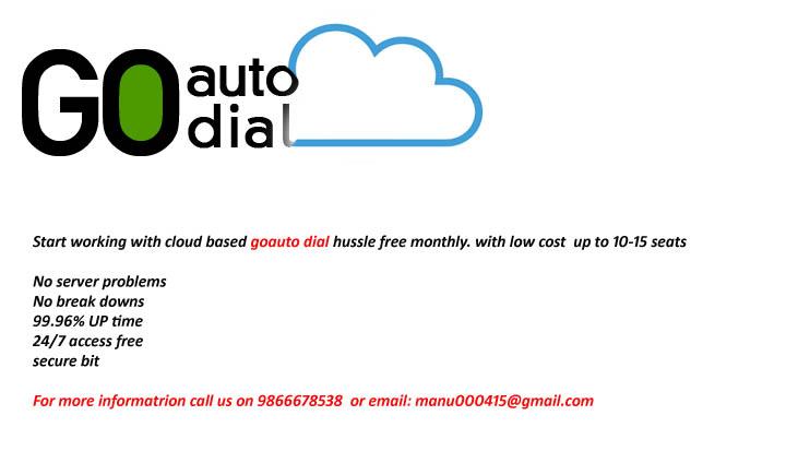 cheap Go auto dialr cloud based