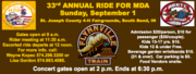 Flynnville Train at 33rd Annual ABATE of Indiana Region 1 MDA Ride