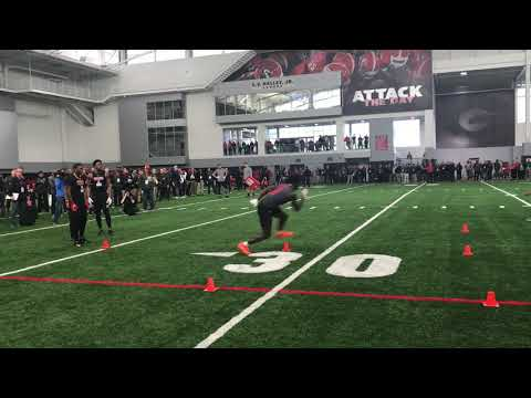 Georgia Football Receivers 3-Cone Drill