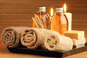 sauna + massage intuitif aux huiles chaudes avec le chiffre 4