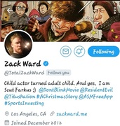 """PEACE...ZACK WARD!! RESIDENT EVIL """"APOCALYPSE"""" THX 4 SUPPORTING THE... LUNATIC BANDIT VIDEO GAME APP  BY YOUNG GIFTED GAME DIVISION"""