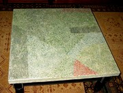 Glass Aggragate Table